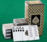 Do casino do ouro da cópia do PVC do póquer cartões 100% de jogo plásticos