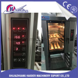 Bandejas do forno 5 do vapor da conveção de aquecimento do gás para o pão do cozimento