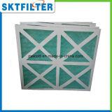 Filtro plisado el panel con el material de la fibra de vidrio