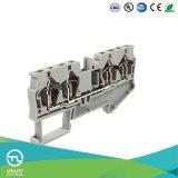 Conector de cable del bloque de terminales Jut3-4/2-2 del resorte de Dinrail