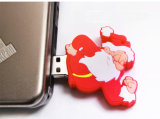 PVC macio da movimentação do flash do USB do Natal 16GB do pai mais barato