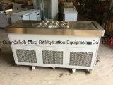 As bandejas lisas do aço inoxidável R410 dois comerciais fritaram a máquina do gelado