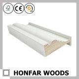MDF grosso do branco com madeira aprontada que molda para a decoração