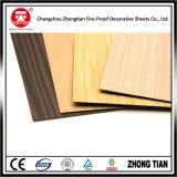 Hojas de madera del laminado del Formica del modelo