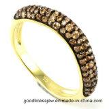 Anello d'argento solido R10167 dei monili delle 925 dell'argento sterlina della Rosa donne dell'oro