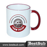 Caneca do Sublimation do punho da borda de Bestsub 11oz (B11B-10)
