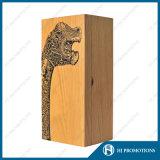 カスタマイズされた木のアルコール飲料のびん包装ボックス(HJ-PWSY02)