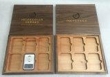 Rectángulo de madera de la colección de moneda del arce