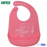 주황색 만화 캐처를 가진 도표 Non-Disposable FDA/LFGB 승인 아기 착용 실리콘 수도꼭지