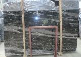 El mármol de plata del dragón embaldosa las losas de mármol negras para el suelo/los azulejos/las encimeras de la pared