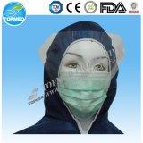 Earloop Nonwoven PPの使い捨て可能なタイ3つの層マスク