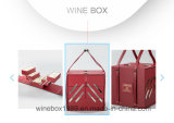 MDF Leather Square Shape Foldable Wine Red Box