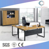 Wooden Antique Design Melamine Boss Office Desk with Metal Base