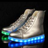 2016 Nieuwe LEIDENE van de Herfst Schoenen voor Volwassen LEIDEN van het Leer van de Schoenen van Men&Women van de Manier Toevallige Echte Licht