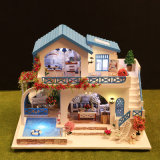 Casa de campo de madeira da casa de boneca DIY do baixo brinquedo novo das crianças de MOQ