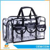 熱い販売法のゆとりPVC装飾的な袋肩ひもが付いている透過PVC装飾的な袋