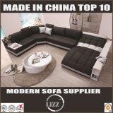 Lz219 moderne Entwurfs-ledernes Sofa des König-Size Home Sofa