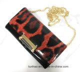 leopard Print 숙녀의 어깨에 매는 가방 또는 여자 지갑 소형 사슬 클러치