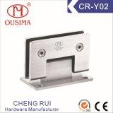 Charnière de porte en verre de douche de matériel d'acier inoxydable (CR-Y02)