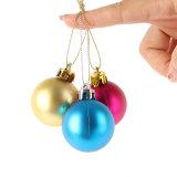 2017 colorido bolas de la Navidad de la artesanía para las decoraciones del árbol de navidad