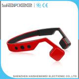 De rode Draadloze Oortelefoon van de Hoofdband van de Beengeleiding Bluetooth