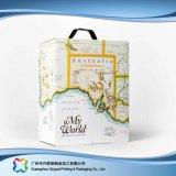 Коробка упаковки вина кофеего подарка гофрированной бумага упаковывая (xc-hba-002)