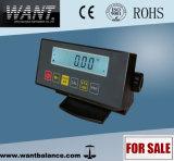 Indicador do LCD que pesa o indicador com RS232