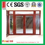 puerta de oscilación de cristal del doble de aluminio del marco del espesor de 2.0m m