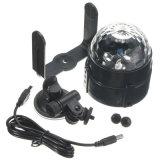 RGB車DJ USBのケーブル・カーの吸盤が付いている軽い小型LEDの魔法の球ライト音制御ディスコライト