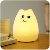 Animal Silicone bébé à côté de la lumière de nuit, lampe respiratoire