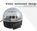 魔法の球音によって作動する小型LEDのクリスタル・ボールのディスコライト