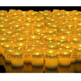 結婚式の装飾多彩なLEDの蝋燭の茶ライト