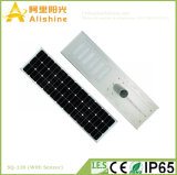 batterie au lithium 120W toute dans un réverbère solaire Integrated de DEL avec le détecteur de PIR