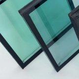 Templado con aislamiento doble ventana de cristal del edificio de la pared de cortina