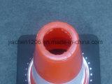Cone do tráfego do PVC 450mm do preço razoável com base de borracha