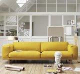 Самомоднейшая нордическая деревянная серая софа ткани для домашней живущий комнаты (HC119)