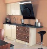 Armários lustrosos da cozinha do projeto simples da forma (personalizados)