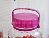 Бессвинцовый прозрачный стеклянный опарник запечатывания бака для хранения
