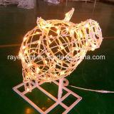 Motif extérieur léger d'éclairage de la décoration DEL de Fetival de porcin