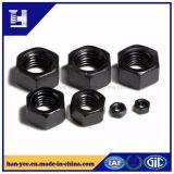 Noix Hex de noir d'acier du carbone d'usine de Hanyee