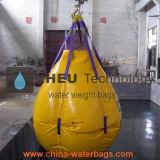 sacos enchidos água do peso 5t