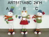 Regalo della decorazione di natale di Doorstopper della Santa, del pupazzo di neve e delle alci