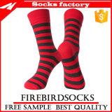 Calcetines ocasionales de la aduana de los calcetines del algodón suave respirable de la raya de las mujeres