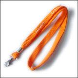Tejido de punto tubulares estrechas logotipo personalizado eslinga de cinta correas / para titular de la clave