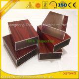 Seção de alumínio do revestimento de madeira com grão da madeira da transferência térmica de PVDF