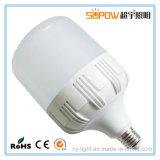 Lámpara baja de la alta calidad del bulbo E26 E27 B22 E14 de la cubierta 5W 10W 15W 20W 30W 40W LED de la PC del disipador de calor de Aluminum+Plastic