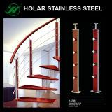Nueva barandilla de cristal/barandilla/pasamano del acero inoxidable del diseño para las escaleras con alta calidad