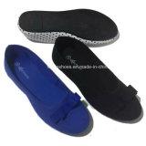 Glissade plate de mère de chaussure des plus défunts femmes sur les chaussures de tissu (DL161224)