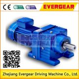 R Serie Cilindro Duro-Diente-Cara Reductor de velocidad Caja de engranajes con motor eléctrico