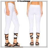 El OEM mantiene los pantalones de la yoga de las mujeres negras de Activewear de la venta al por mayor de la escritura de la etiqueta privada